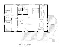 cottage house plans one story one story cottage floor plans1 house plans 1 laferida