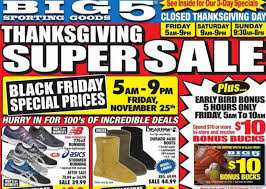 big 5 sporting goods black friday deals ad scan the