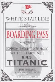 Titanic Second Class Menu by The Great Wildebeest Migration Titanic Lands In Joburg