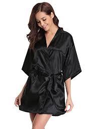 robe de chambre kimono pour femme aibrou peignoir satin pyjama femme ensemble chemise de