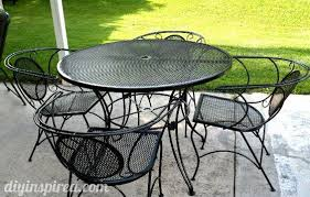metal patio table and chairs patio table and chair update metal patio furniture paint designs