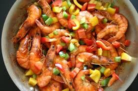 cuisine crevette crevettes aux poivrons afrik cuisine com toute la cuisine de l