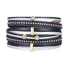 leather women bracelet images 17km women men vintage leather bracelets multi layers jpg