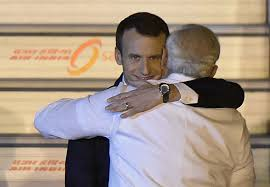 What Does Meme Mean In French - emmanuel macron hugging india s pm modi is an eerie new meme time