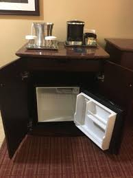 mini fridge in room picture of hilton burlington burlington