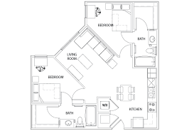 floor plans for bathrooms 2 bed 2 bath u centre on turner student housing columbia mo
