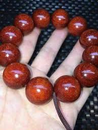red prayer bead bracelet images Red sandalwood bracelet view specifications details of wooden jpeg