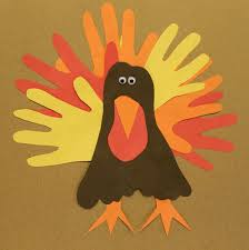 play for a day hand and foot turkey craft