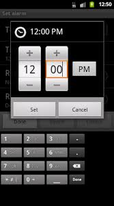 how to set alarm on android view android digital clock time change using timepicker stack