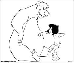mowgli baloo jungle book color disney coloring pages