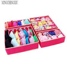 underwear organizer jxsltc 4pc home underwear organizer storage box foldable drawer