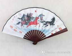 decorative fan 10 large decorative silk cloth folding fan for costume
