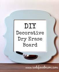 decorative diy dry erase board