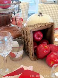Apple Home Decor Red Apples And Honey Tablescape Theme Hometalk