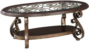 oval coffee table modern oval dark brown wood carving coffee table with glass top and shelf