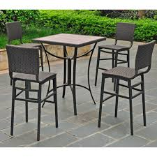 Patio Chairs Bar Height High Top Bistro Patio Set Patio Outdoor Decoration
