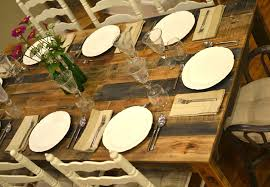 How To Build A Dining Room Table Plans by The Shipping Pallet Dining Table Little Paths So Startled