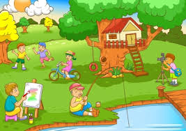 Backyard Cartoon Playground Clipart Backyard Pencil And In Color Playground