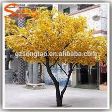 new sale 10ft yellow artificial tree trunks factory
