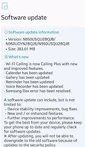 android security policy updates sprint galaxy note8 gets update with calling plus october