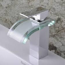 single handle chrome waterfall bathroom sink faucet f 0822