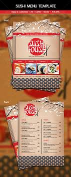 customizable menu templates sushi menu template sushi menu menu templates and flyer template