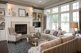 pottery barn fireplace living room traditional with woven area rug