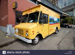 truck van dhl delivery hybrid electric bread truck van new york city usa