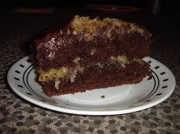 got cake mah fave german chocolate cake from mix
