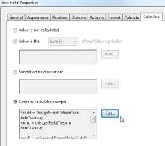 Count Calculation In Adobe Acrobat Forms How To Subtract Two Dates Pdf Forms
