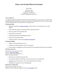 Resume Examples Entry Level by Actuary Resume Business Analyst Resum Resume For Actuary