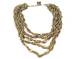 multi chain necklace images Marino distressed silver multi chain necklace vintage nectar JPG