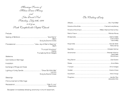 church wedding programs church wedding program templates free templates resume
