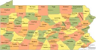 map of counties in pa pennsylvania county map