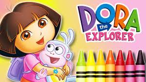 dora coloring book pages dora the explorer cartoon coloring book beautiful crayons