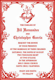 Catholic Wedding Invitation Spanish Word For Wedding Tbrb Info