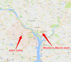Arlington Virginia Map Nearly 500 000 People Marched On Washington For Women U0027s Rights