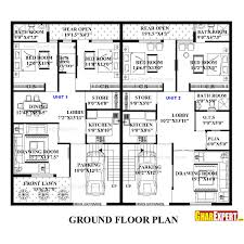 Calculating House Square Footage House Plan For 60 Feet By 50 Feet Plot Plot Size 333 Square Yards