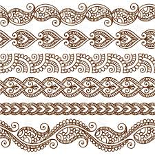 borders and frames in mehndi style ethnic ornament royalty free