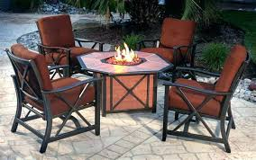 Patio Table And Chair Set with Propane Fire Pit Table And Chairs Full Image For Gas Fire Pit