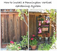 How To Plant Vertical Garden - oh grow up how to install the pennington vertical gardening