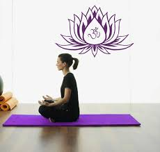 Wall Murals Amazon by Amazon Com Lotus Flower Wall Decals Vinyl Decal With Om Sign Yoga
