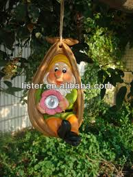 hanging garden ornaments hanging solar gnome outdoor buy hanging