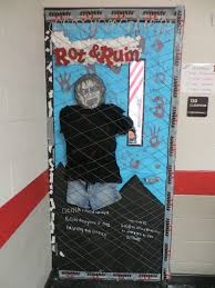 51 zombie door decorations pinterest google twitter facebook