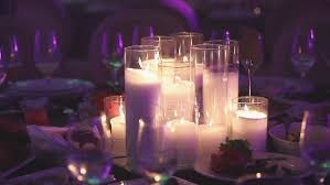 light up christmas candles decorative candles on the dining table glasses and christmas