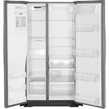 Whirlpool Black Ice Whirlpool 21 Cu Ft Side By Side Counter Depth Refrigerator