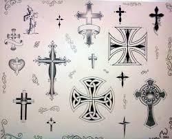 cross flash by irishartiste on deviantart tattoo flash crosses