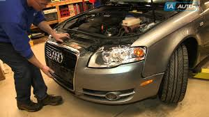 audi a3 front bumper removal how to install replace broken front grille 2005 09 audi a4