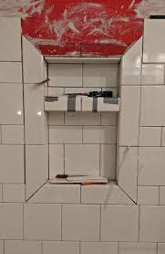 bathroom niche ideas tile niche shower with recessed niche of mosaic glass tile