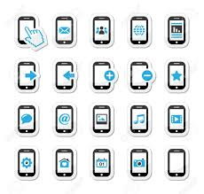 phone icon cell phone icon vector smartphone mobile or cell phone icons set